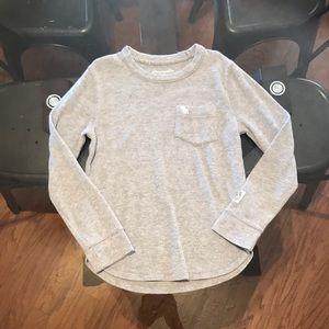 A&F kids boy's long sleeve waffle shirt size 7/8